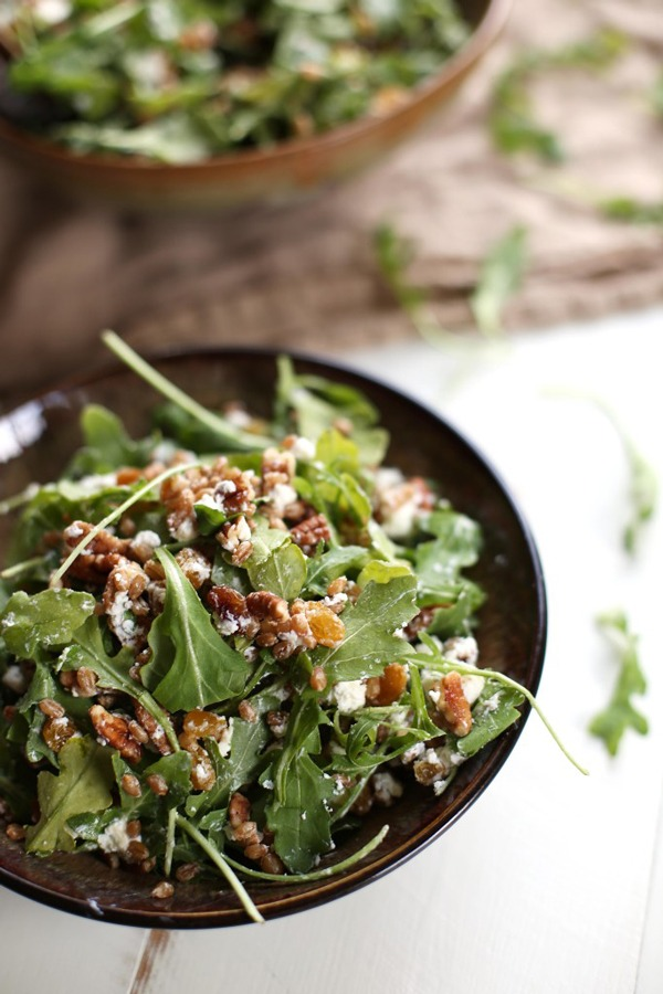 High Protein Vegetarian Meals Golden Raisin Wheat Berry Arugula Salad