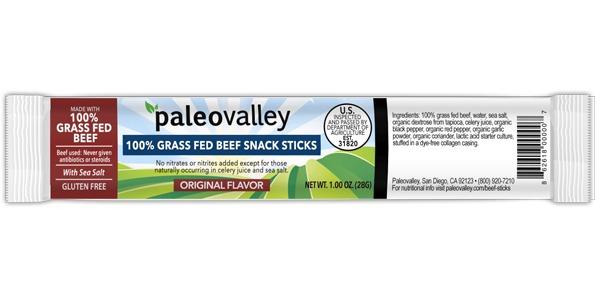 Paleovalley original beef sticks