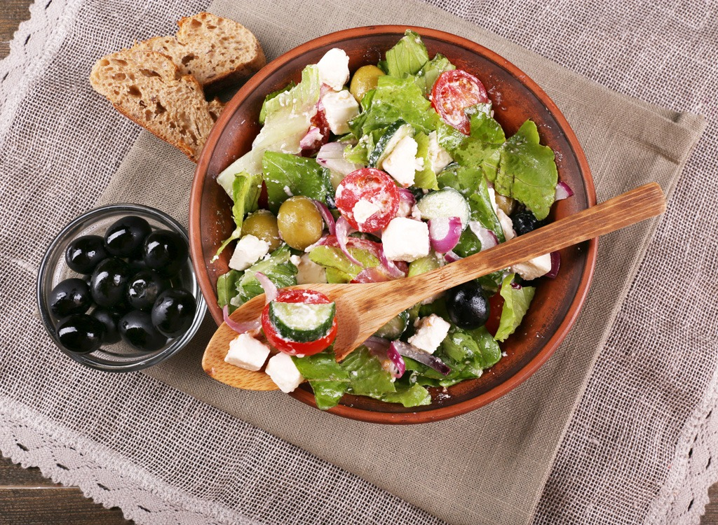 Save calories greek salad