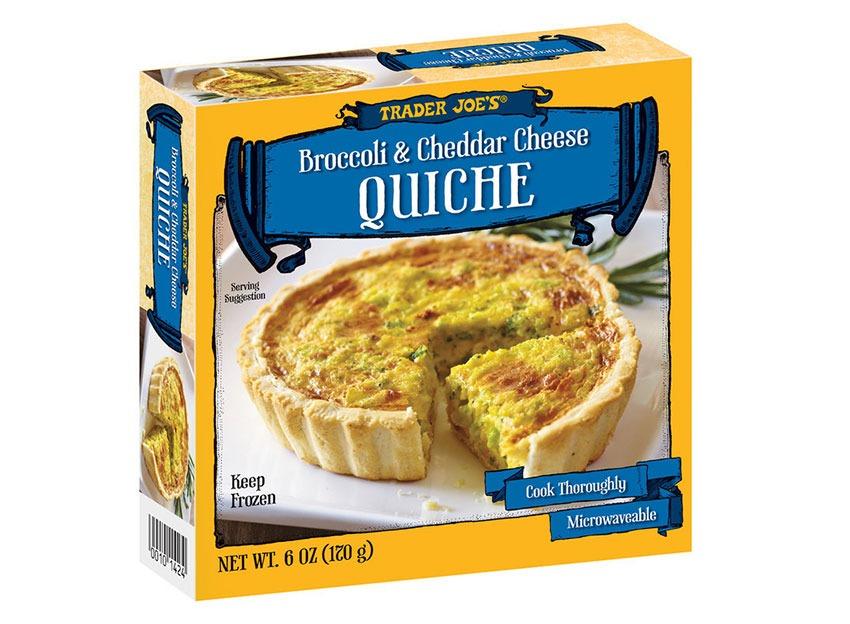 trader joes broccoli cheddar quiche