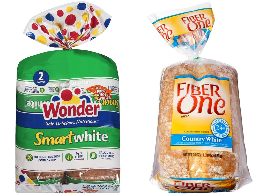 Wonder and FiberOne whitebread