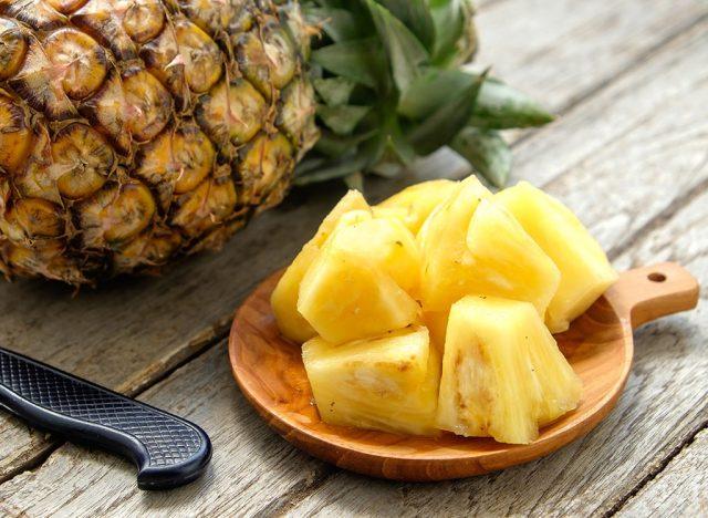 Sugary fruits ranked pineapple
