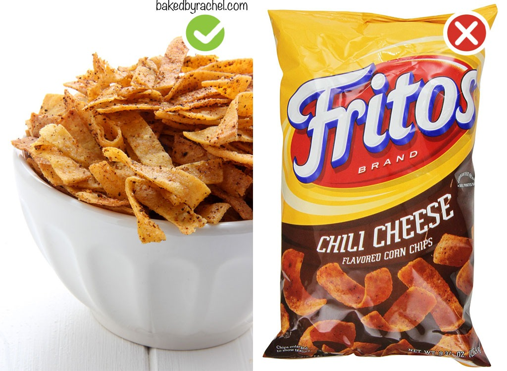 Ultraprocessed homemade swaps chips