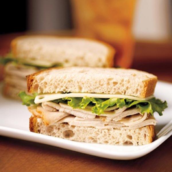 Smoked Turkey and Swiss Sandwich