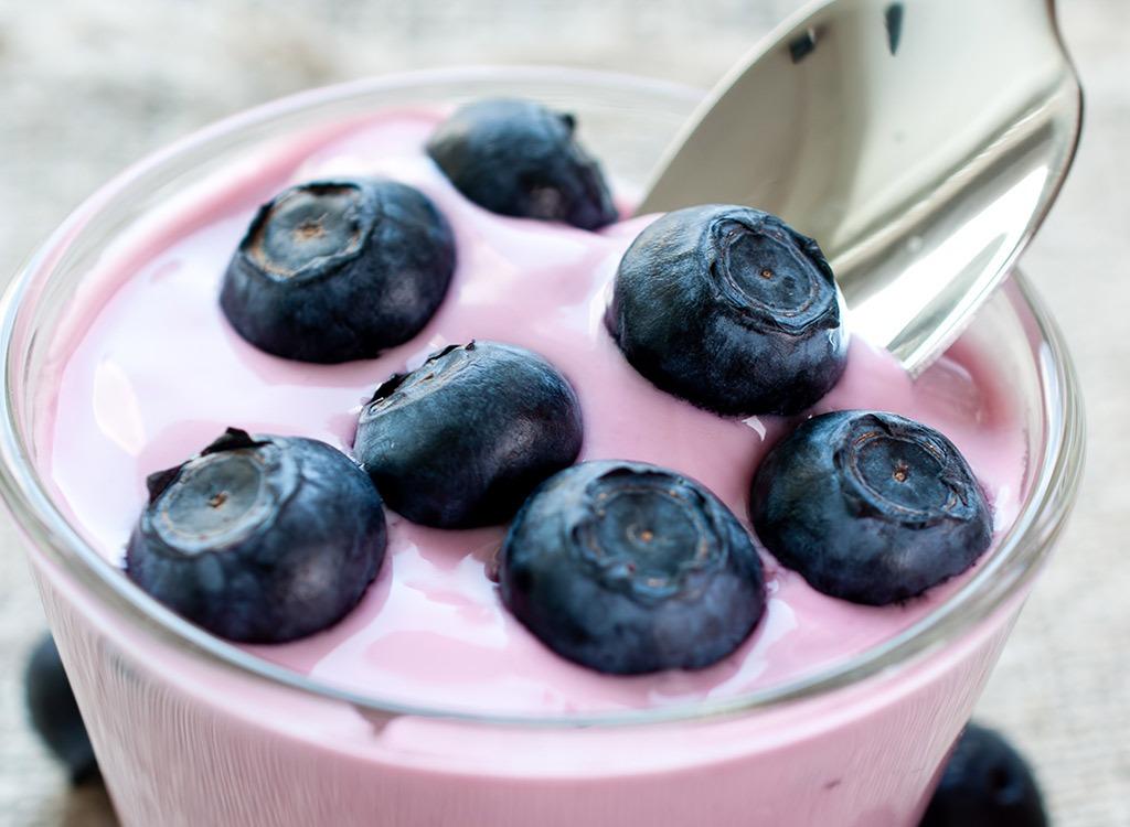 Flavored yogurt - best foods for gut health