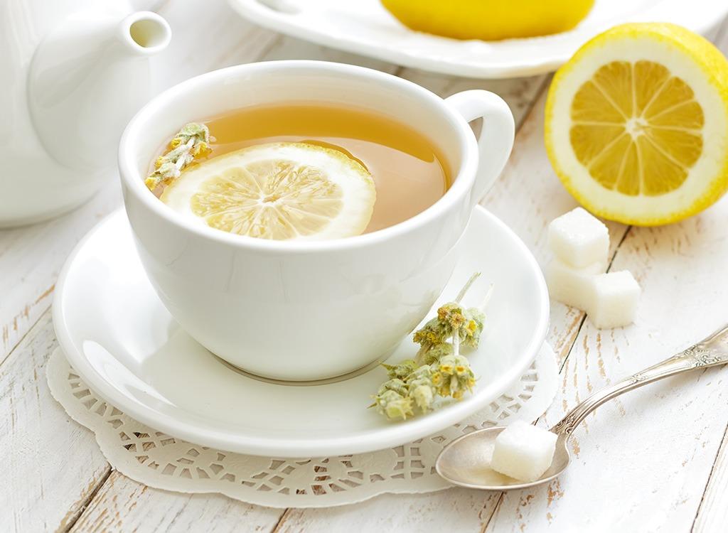 White tea lemon