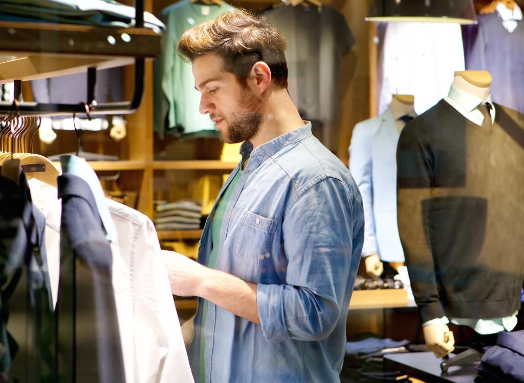man clothing shopping