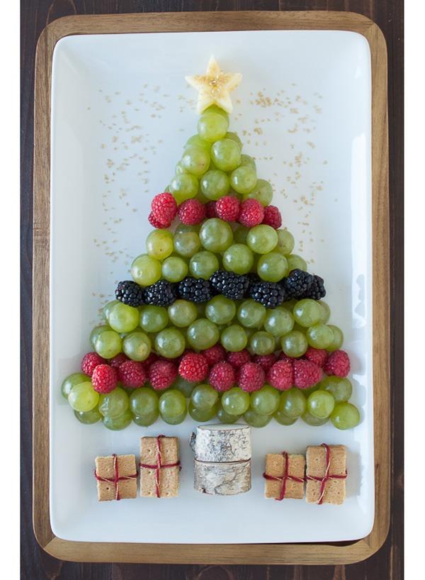 Holiday desserts fruit platter