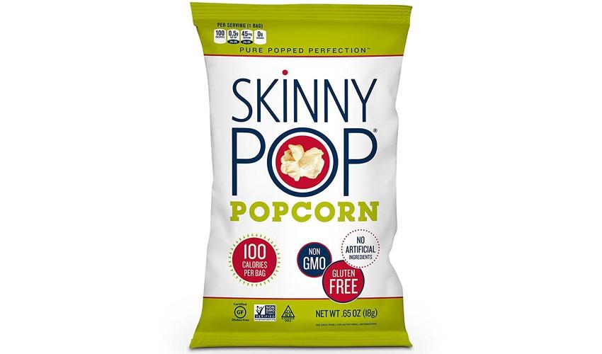skinny pop original popped popcorn bag