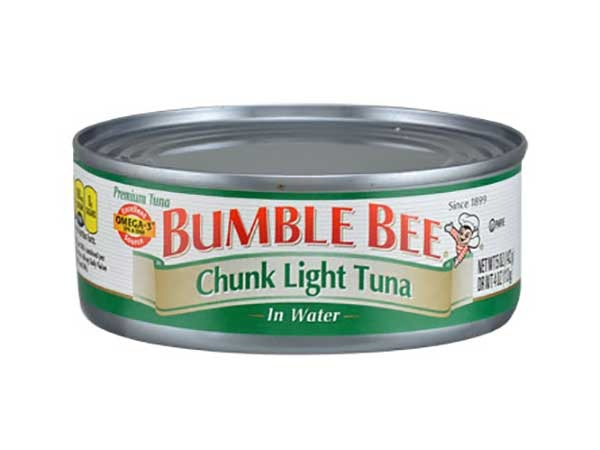 bumble bee chunk light tuna in water