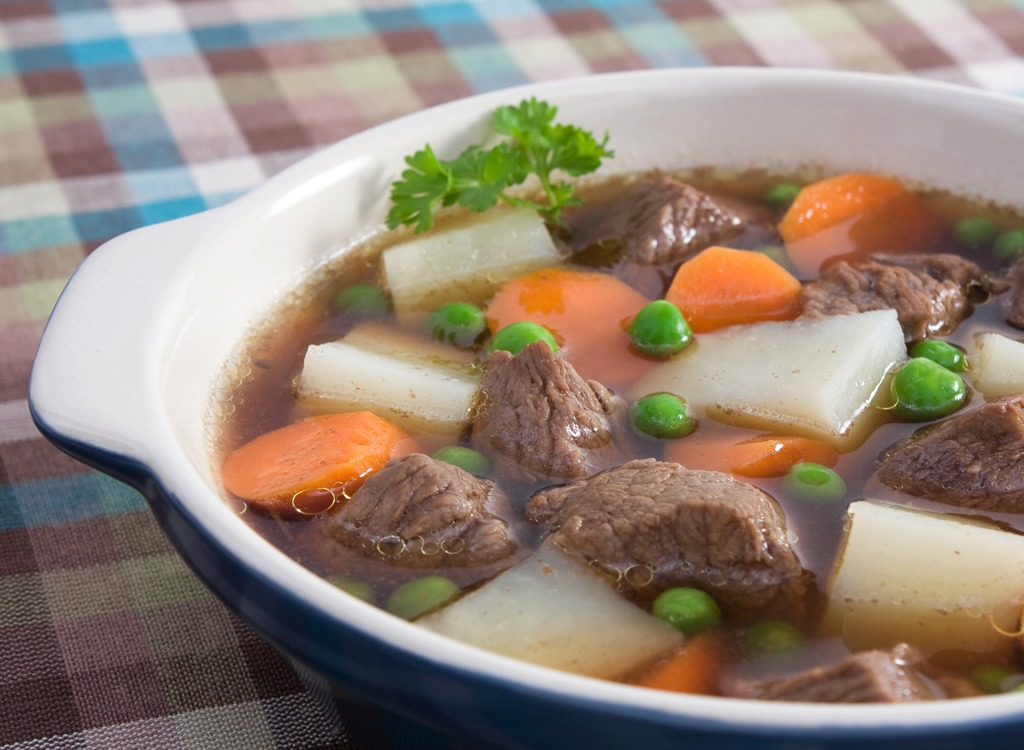 Beef broth soup
