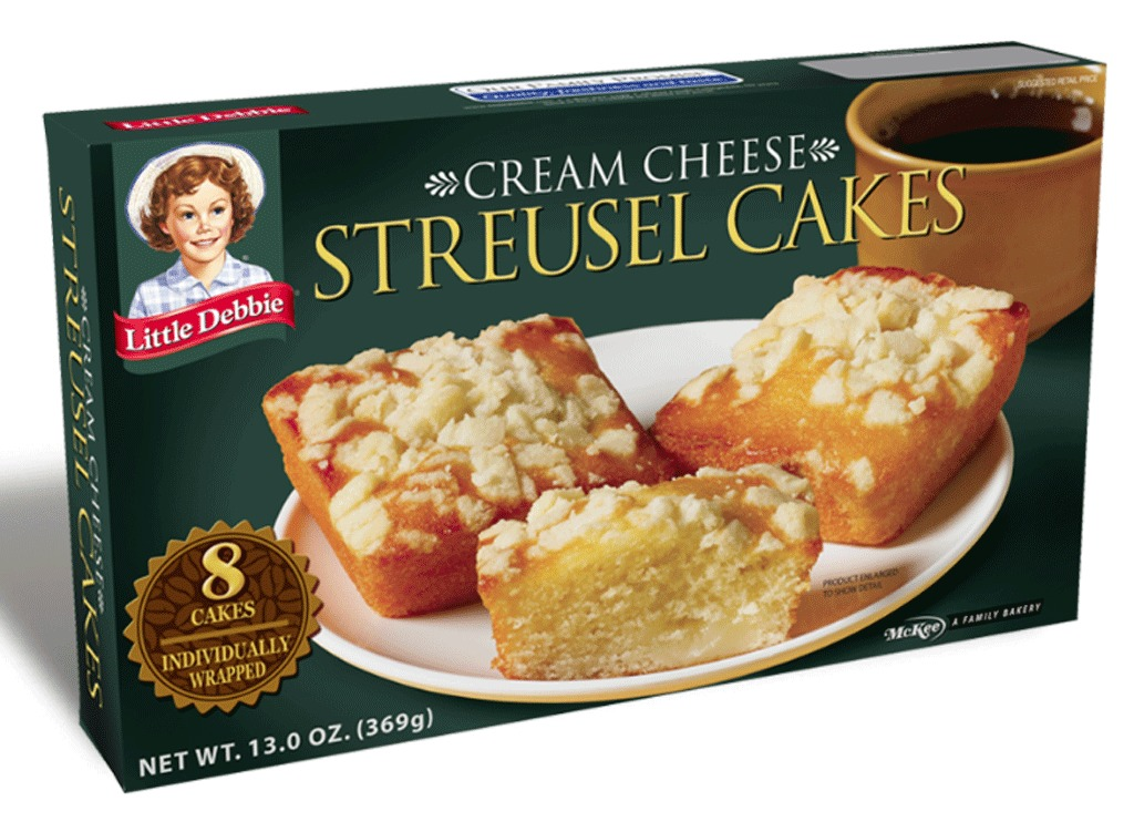 cream cheese streusel cakes