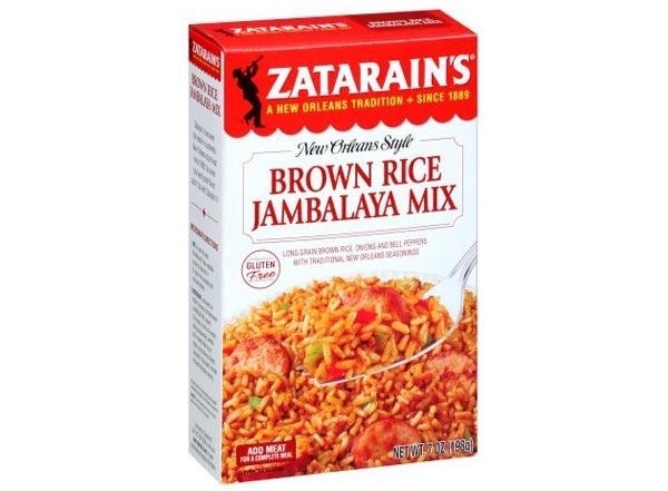zatarain's brown  rice jambalaya mix