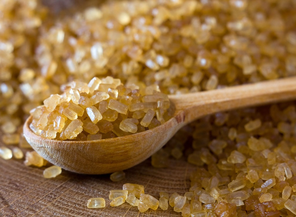 Sweeteners ranked raw cane sugar