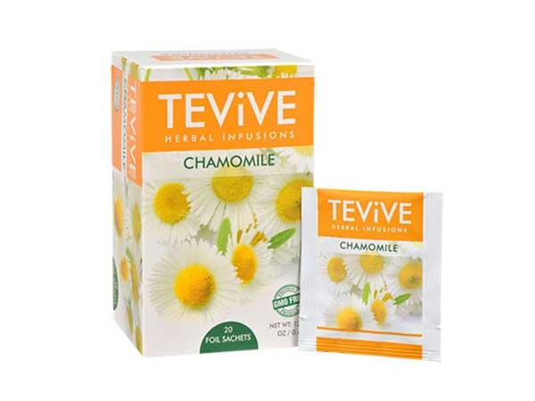 tevive herbal infusions chamomile tea bags