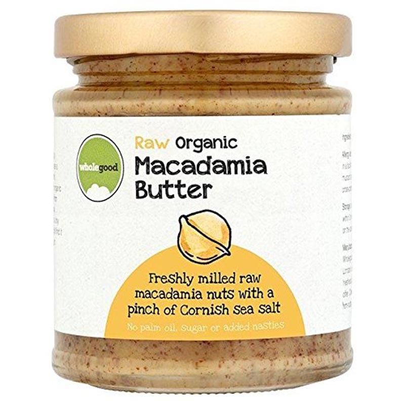wholegood organic raw macadamia nut butter