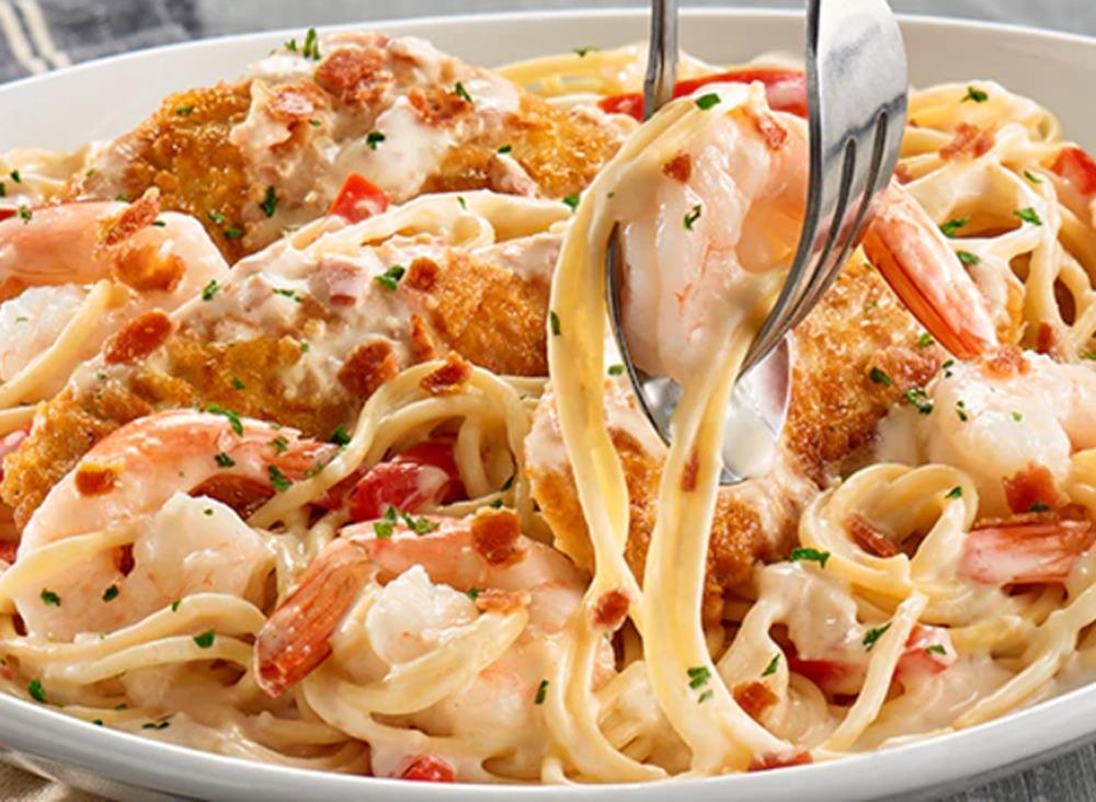 olive garden chicken and shrimp carbonara