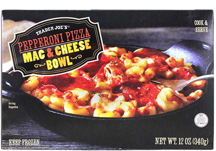 trader joes pepperoni pizza mac and cheese bowls - best trader joe's frozen meals