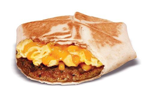 taco bell am crunchwrap sausage