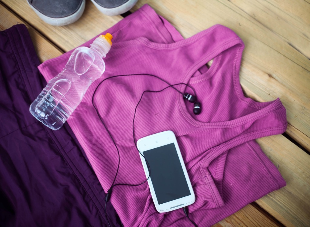 Lay out workout clothes