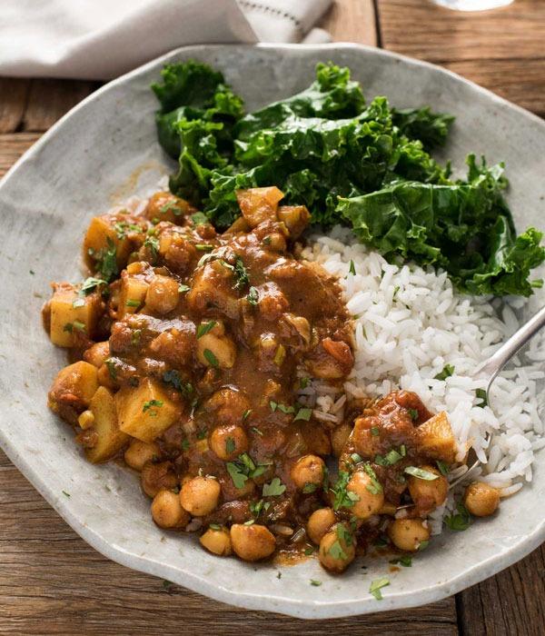 Pulse recipes potato curry