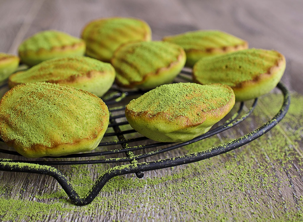 matcha green tea madeleines
