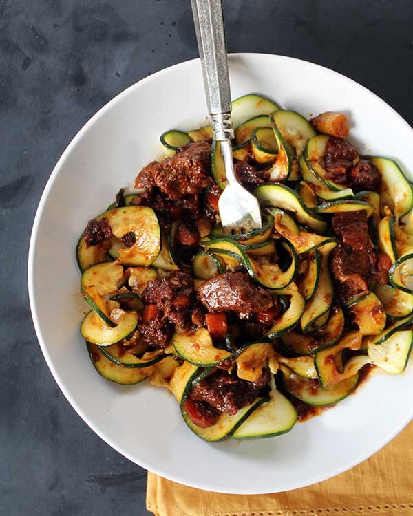 beef stew with zucchini noodles