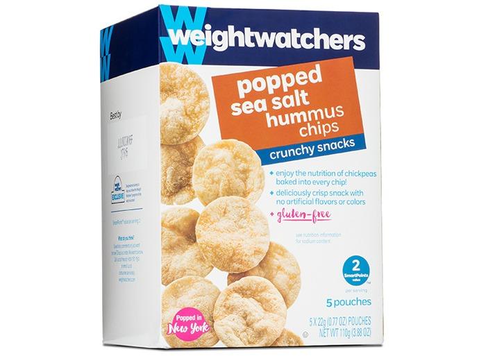 Weight watchers Popped Sea Salt Hummus Chips