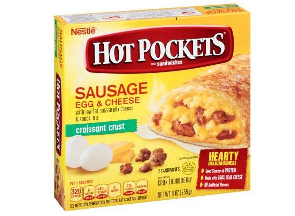 hot pockets sausage egg & cheese