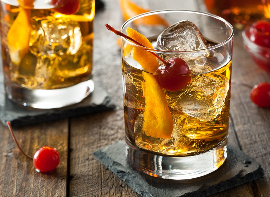 Low calorie old fashioned cocktail