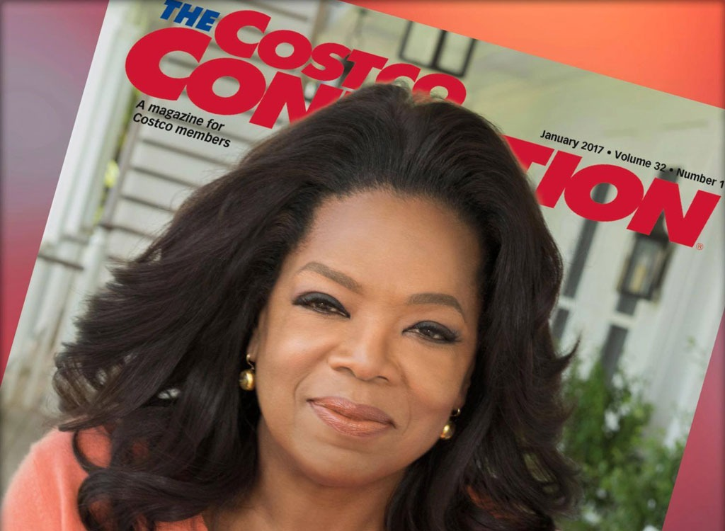 oprah on cover of costco connection magazine