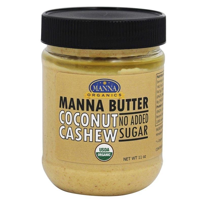 manna organics manna butter coconut cashew no added sugar