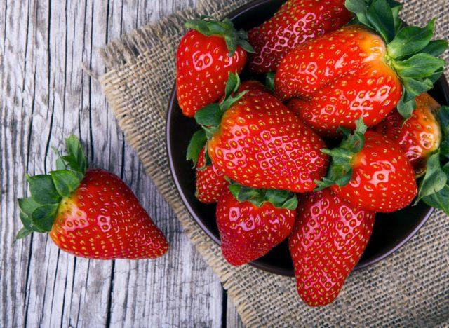 Sugary fruits ranked Strawberries
