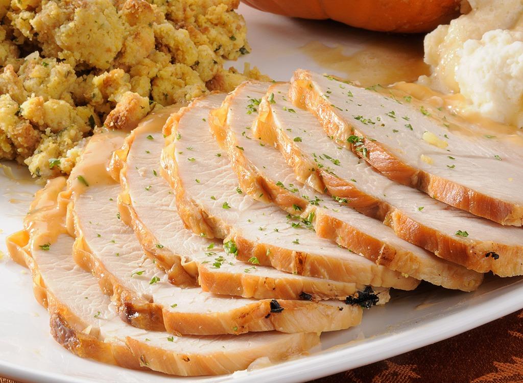 skinless light meat turkey