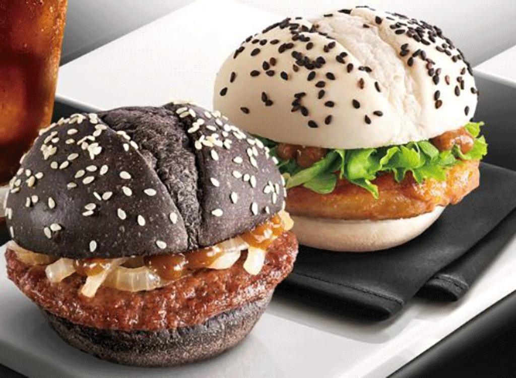 mcdonalds china black and white burgers