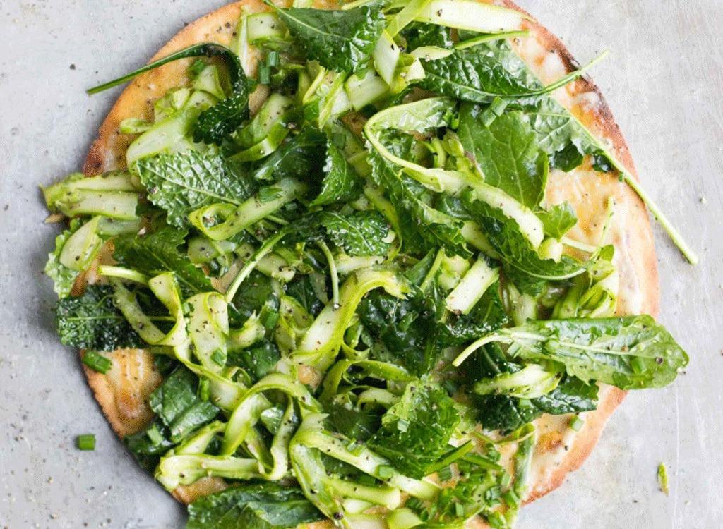 chickpea arugula pizza