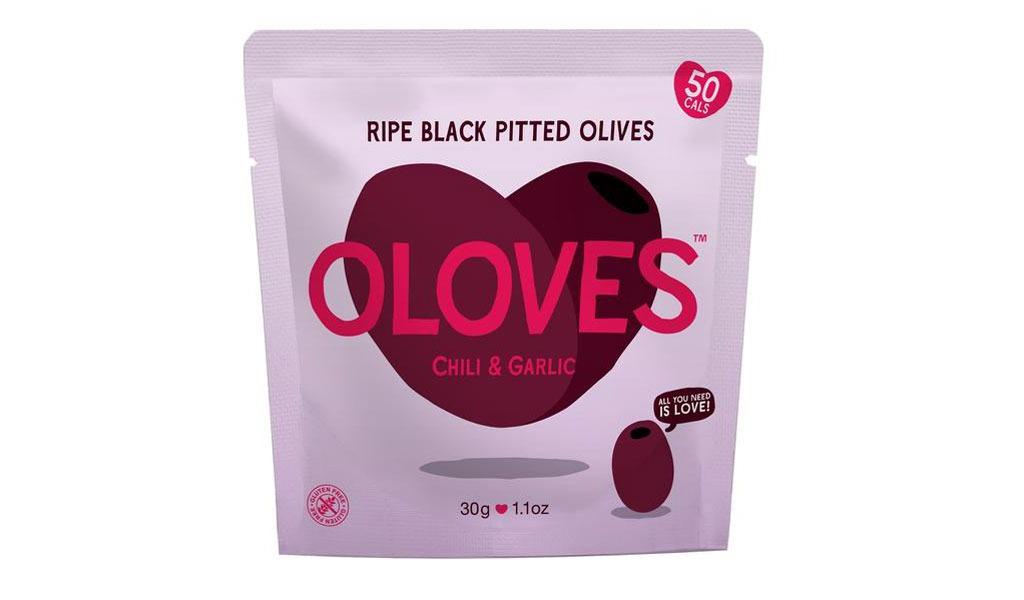 Oloves Chili Garlic Black Olives - low carb snacks