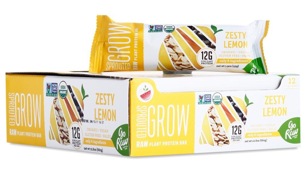 go raw sprouted grow zesty lemon bars