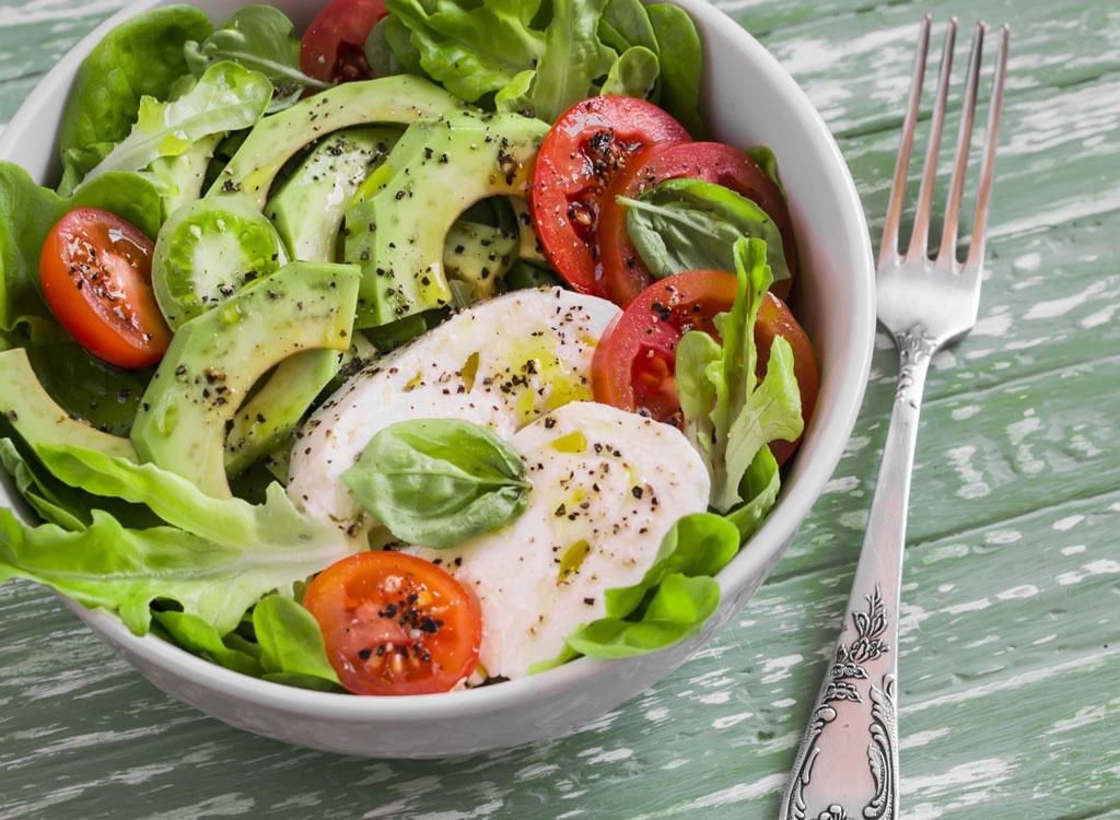 avocado and cheese salad