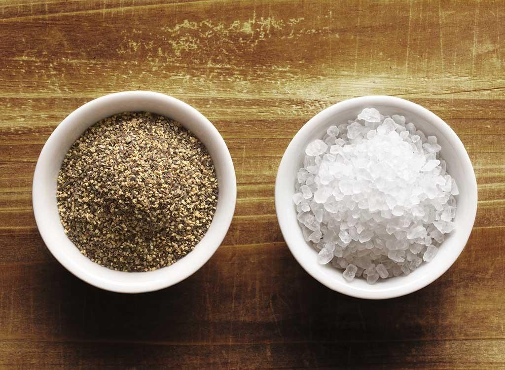 pinch bowls of salt and pepper