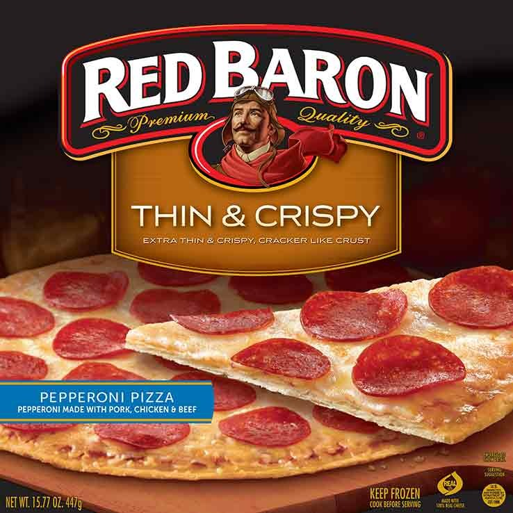 Red baron thin pepperoni