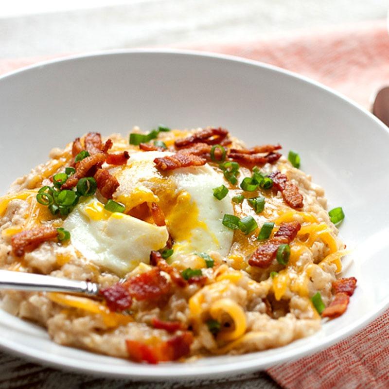 Savory oatmeal macheesmo