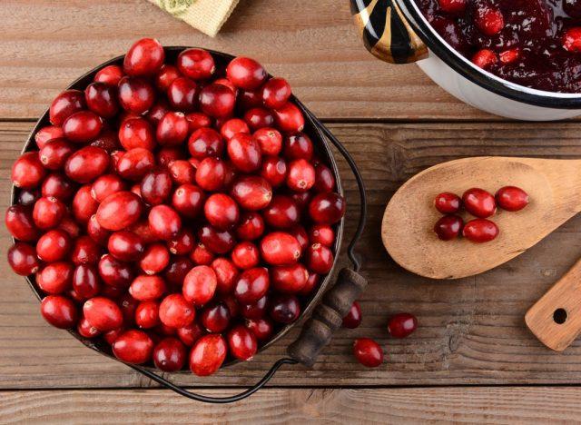 Sugary fruits ranked Cranberries