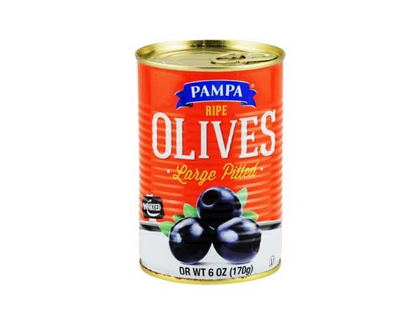 pampa ripe pitted black olives
