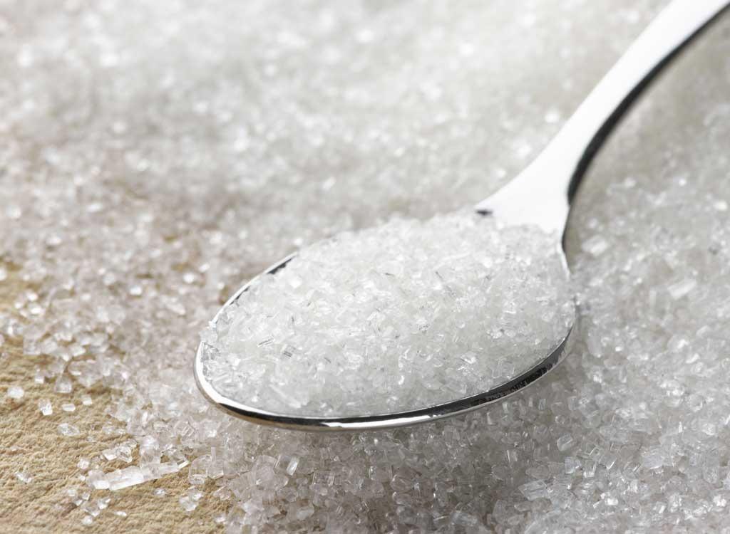 Sugar in spoon