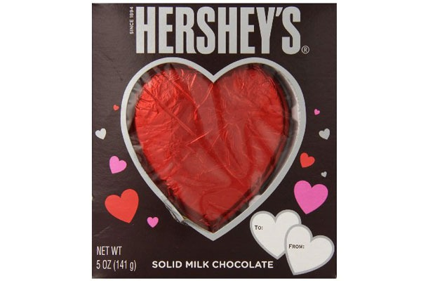 Valentines Candy Ranked hershey heart