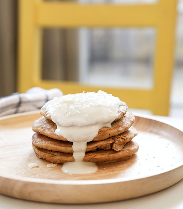 vanilla coconut protein pancake recipe