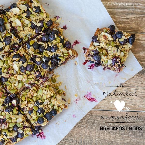 High Protein Vegetarian Meals Oatmeal Superfood Breakfast Bars
