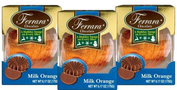 FERRARA CHOCOLATE FRUIT BURST MILK CHOCOLATE ORANGE