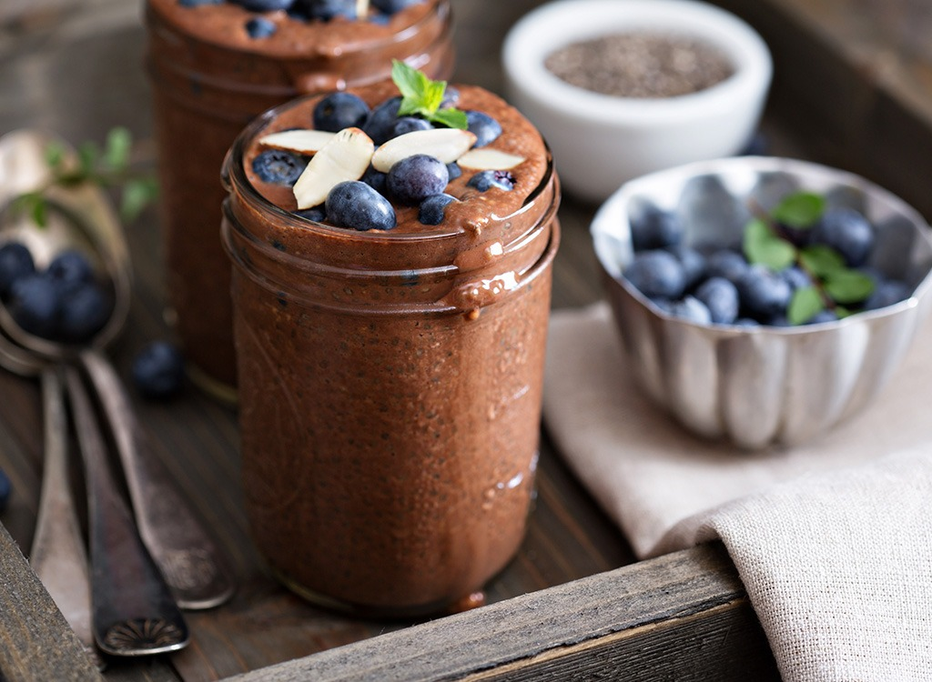 chocolate-covered strawberry chia pudding